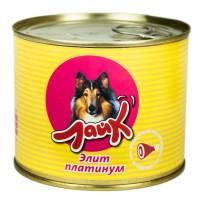 """Мясные консервы для собак ЛАЙК """"Элит платинум"""" для взрослых собак всех пород - 525 гр. х 8 шт."""