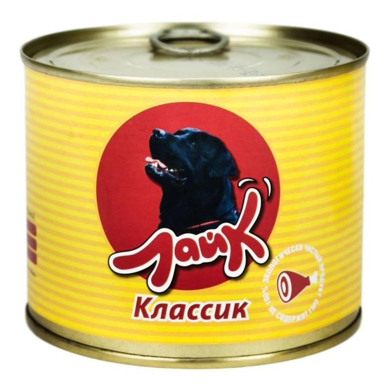 """Мясные консервы для собак ЛАЙК """"Классик"""" говядина и печень для взрослых собак всех пород - 525 гр. х 8 шт."""