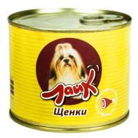 """Мясные консервы для собак ЛАЙК """"Щенки"""" сердце с печенью для щенков всех пород от 4 до 12 месяцев - 525 гр. х 8 шт."""