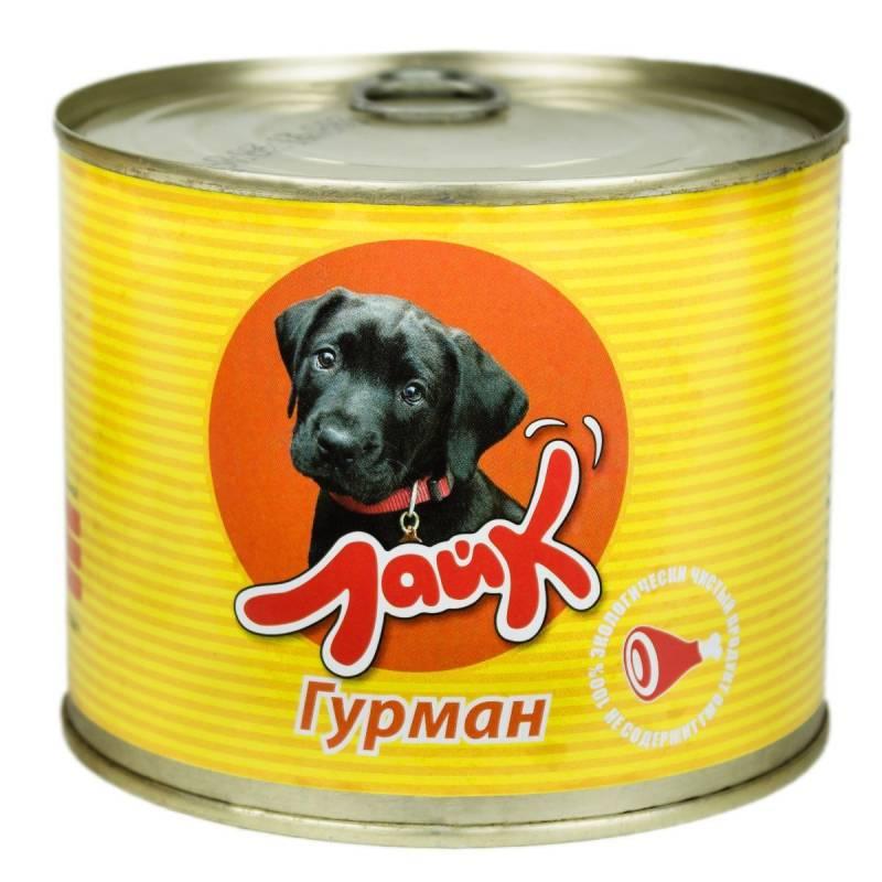 """Мясные консервы для собак ЛАЙК """"Гурман"""" говядина и сердце для взрослых собак всех пород - 525 гр. х 8 шт."""