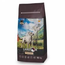 Landor Large Breed Dog сухой корм для щенков крупных пород с ягненком и рисом - 3 кг (15 кг)