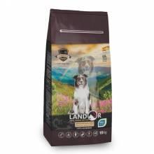 Landor сухой корм для пожилых и взрослых собак всех пород с функцией улучшения мозговой деятельности, с уткой и рисом - 1 кг (3 кг) (15 кг)