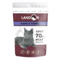 Landor влажный корм для кошек с куропаткой и индейкой в паучах - 85 г х 12 шт.