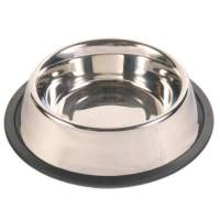Миска Trixie для собак с резинкой металлическая Ф14 см 0,45 л