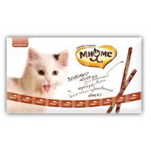 Мнямс лакомые палочки для кошек с говядиной и печенью 13,5 см - 5 г (5г х 10 шт)