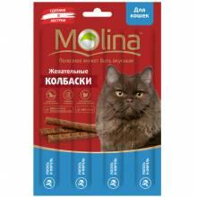 Molina Жевательные колбаски для кошек с лососем и форелью 20 г