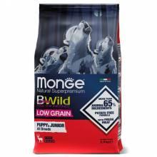 Monge Dog BWild LOW GRAIN Puppy & junior низкозерновой корм из мяса оленя для щенков всех пород 2,5 кг