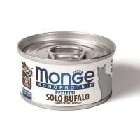 Monge Cat Monoprotein мясные хлопья для кошек из мяса буйвола в консервах - 80 г х 24 шт