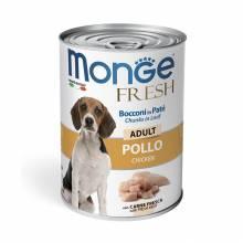 Monge Dog Fresh влажный корм для собак с мясным рулетом из курицы в консервах - 400 г х 24 шт