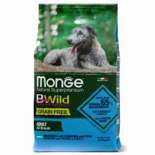 Monge Dog GRAIN FREE беззерновой корм для собак анчоусы c картофелем и горохом 2,5 кг (12 кг)