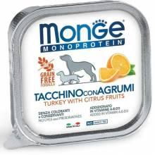 Monge Dog Monoprotein Fruits паштет для собак из индейки с цитрусовыми в консервах - 150 г х 24 шт