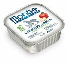 Monge Dog Monoprotein Fruits паштет для собак из кролика с яблоком в консервах - 150 г х 24 шт
