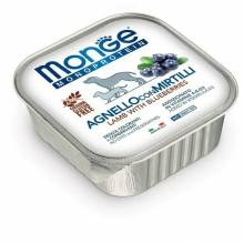 Monge Dog Monoprotein Fruits паштет для собак из ягненка с черникой в консервах - 150 г х 24 шт