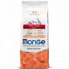 Monge Dog Speciality Mini сухой корм для взрослых собак мелких пород лосось с рисом 2,5 кг (7,5 кг)