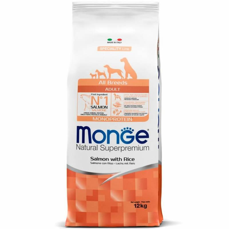 Monge Dog Speciality Adult Salmon сухой корм для взрослых собак всех пород лосось с рисом - 2,5 кг (12 кг)