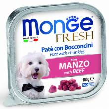 Monge Dog Fresh консервы для собак говядина 100 гр х 32 шт.