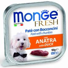 Monge Dog Fresh паштет для собак утка 100 гр х 32 шт.