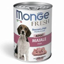 Monge Dog Fresh влажный корм для собак с мясным рулетом из свинины в консервах - 400 г х 24 шт