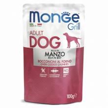MONGE Dog Grill Pouch паучи для собак говядина 100 гр х 24 шт