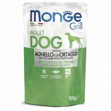Monge Dog Grill Pouch паучи для собак c ягненком и овощами - 100 г х 24 шт