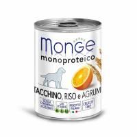 Monge Dog Monoproteico Fruits консервы для собак паштет из индейки с рисом и цитрусовыми - 400 г х 24 шт