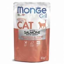 Влажный корм Monge Cat Grill для котят с норвежским лососем - 85 г х 28 шт