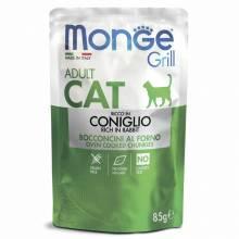Влажный корм Monge Cat Grill для взрослых кошек с итальянским кроликом - 85 г х 28 шт