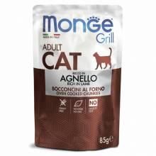 Влажный корм Monge Cat Grill для взрослых кошек с новозеландским ягненком - 85г х 28 шт