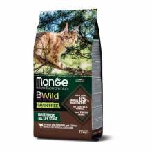 Monge Cat BWild Grain Free сухой беззерновой корм для крупных кошек всех возрастов из мяса буйвола - 1,5 кг