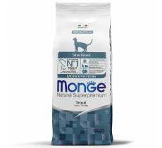 Monge Cat Monoprotein Sterilised для стерилизованных кошек с форелью - 1,5 кг (10 кг)