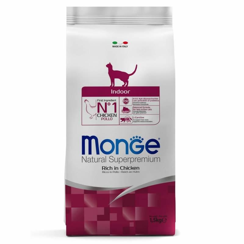 Monge Cat Indoor сухой корм для домашних кошек 400 гр (1,5 кг) (10 кг)