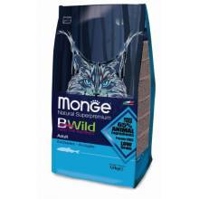 Monge Bwild Cat Adult Anchovies cухой корм для взрослых кошек с анчоусам 1,5 кг (10 кг)