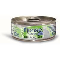 Monge Cat Natural консервы для кошек тунец с курицей 80 гр х 24 шт.