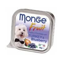 Monge Dog Fresh консервы для собак индейка с черникой 100 гр х 32 шт
