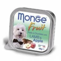 Monge Dog Fresh консервы для собак ягненок с яблоком 100 гр х 32 шт.