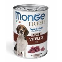 Monge Dog Fresh влажный корм для собак с мясным рулетом из телятины в консервах - 400 г х 24 шт