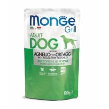 MONGE Dog Grill Pouch паучи для собак ягненок с овощами 100 гр х 24 шт.