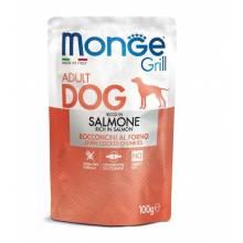 Monge Dog Grill Pouch паучи для собак c лососем - 100 г х 24 шт