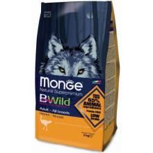 Monge BWild Dog Adult Ostrich сухой корм для взрослых собак всех пород с мясом страуса - 2 кг (7,5 кг)