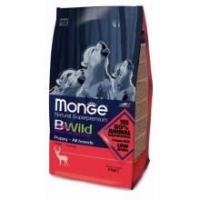 Monge BWild Puppy Deer сухой корм для щенков всех пород с олениной - 2 кг