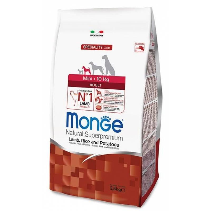 Monge Dog Speciality Extra Small Adult сухой корм для взрослых собак миниатюрных пород ягненок с рисом и картофелем - 2,5 кг