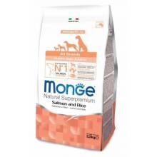 Monge Dog Speciality Puppy & Junior для щенков всех пород лосось с рисом 2,5 кг (12 кг)