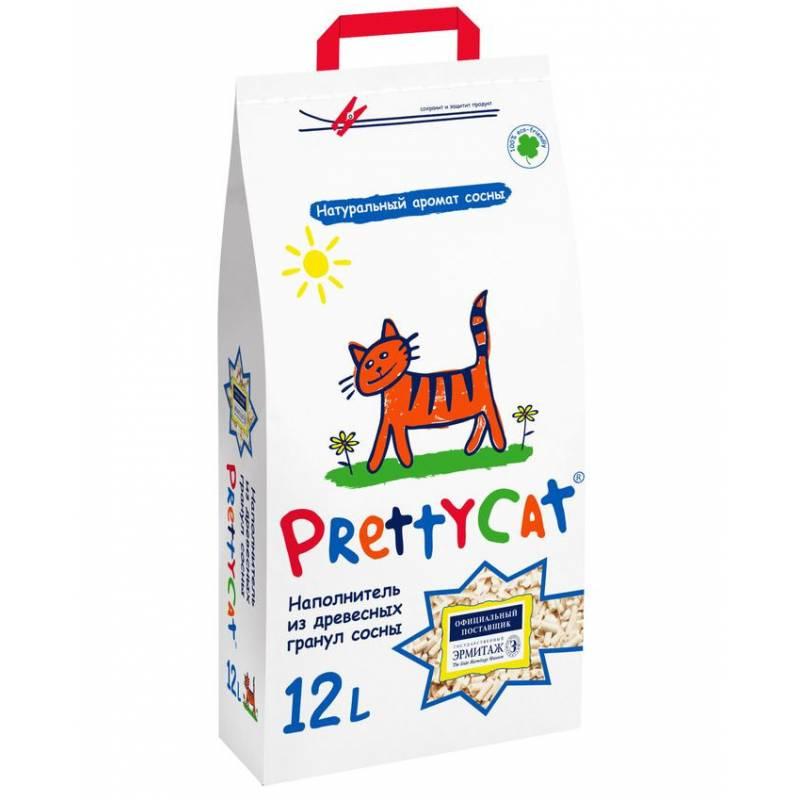 Наполнитель PrettyCat наполнитель древесный для кошачьих туалетов Wood Granules 12 л