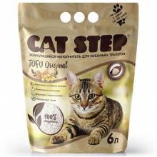 Наполнитель Cat Step Tofu Original для кошачьих туалетов растительный комкующийся - 6 л
