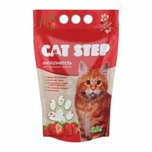 Наполнитель Cat Step Клубника для кошачьих туалетов силикагелевый впитывающий - 3,8 л