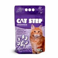 Наполнитель Cat Step Лаванда для кошачьих туалетов силикагелевый впитывающий - 3,8 л