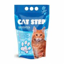 Наполнитель Cat Step для кошачьих туалетов силикагелевый впитывающий - 3 л (7 л)
