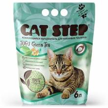 Наполнитель Cat Step Tofu Green Tea для кошачьих туалетов растительный комкующийся - 6 л (12 л)