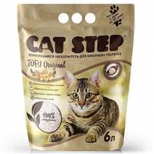 Наполнитель Cat Step Tofu Original для кошачьих туалетов растительный комкующийся - 6 л (12 л)