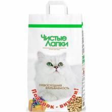 Чистые Лапки наполнитель древесный для кошек + подарок внутри 12 л